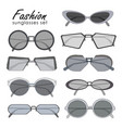 fashionable sunglasses collection different shape vector image