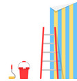 wallpaper pasting with stairs vector image