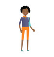 young african black woman withbag isolated vector image