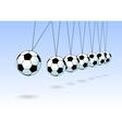Balancing soccer ball vector image