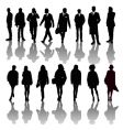 professional people silhouettes vector image vector image