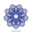 Blue Indian Curl Ornament vector image