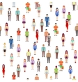 People seamless pattern with men women Society vector image