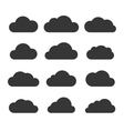 Clouds Silhouettes Set on White Background vector image
