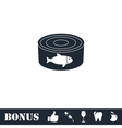 Can with label tuna fish icon flat vector image