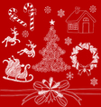 Christmas Doodles2 vector image