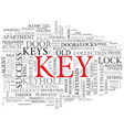 key word cloud concept vector image