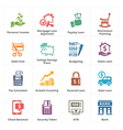 Personal Business Finance Icons Set 2 vector image