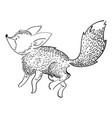 stylized fox in a jump a cartoon fox vector image