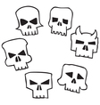 Skull Shape vector image vector image