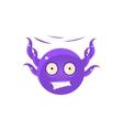 Free Falling Funny Octopus Emoji vector image vector image
