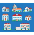 Houses icons set Real estate vector image