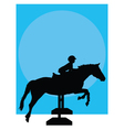 horse jumping silhouette vector image vector image