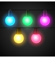 Set of light bulbs garlands for design vector image vector image