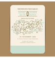 Beautiful wedding invitation card vector image vector image