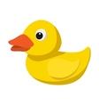 Yellow duck for bath cartoon icon vector image
