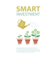 Dollar plant in the pot and watering can vector image vector image