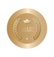 award gold round sign vector image