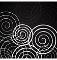 Black and white spirals background vector image