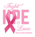 Breast cancer awareness pink card vector image