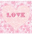 Floral ornate heart background vector image