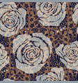 floral seamless pattern with big decorative vector image