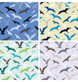 flying birds abstract seamless pattern vector image