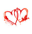 heart blood stains vector image