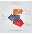 Infographics with arrows and icons vector image
