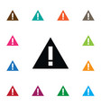 isolated highway icon attention element vector image