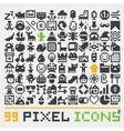 Pixel art web icons set 2 vector image
