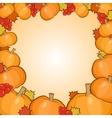 Pumpkins frame background autumn border vector image