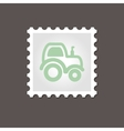 Tractor stamp Outline vector image
