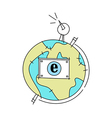 World Communication Globe vector image