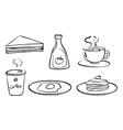 Foods and drinks for breakfast vector image vector image
