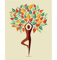 India colorful yoga leaf tree vector image