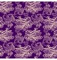 Violet floral seamless pattern vector image vector image