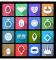 Jewelry Icons Set vector image vector image