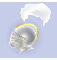 knights helmet vector image