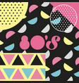 memphis style pattern geometric style retro 80 vector image