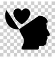 open mind love heart icon vector image