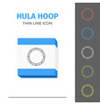 simple line stroked hula hoop icon vector image