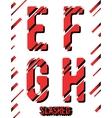 Slashed font template vector image