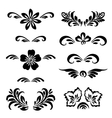 Stylized floral ornament vector image