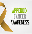 World appendix cancer day awareness poster eps10 vector image