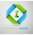 Letter I logo symbol in the colorful rhombus vector image