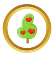 Abstract heart tree icon vector image