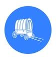 Cowboy wagon icon black Singe western icon from vector image