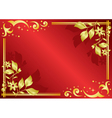 red card with golden decorations vector image