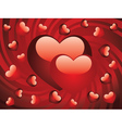 Glossy red hearts2 vector image vector image